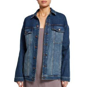 Eileen fisher blue lightweight Demin jacket size M